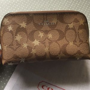 Coach cosmetic make up jewelry travel case pouch